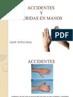 ACCIDENTES Y HERIDAS EN MANOS