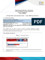 2 Activities guide and evaluation rubric - Unit 1 - Task 2 - Writing Production
