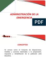 Administración de la emergencia (larga)