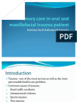 Primary care in oral and maxillofacial trauma patient