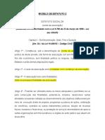Modelo estatuto OSCIP