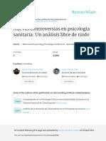 Fernandez-Garcia et al. 2017. Nuevas controversias en Psicología sanitaria_Un análisis libre de ruido