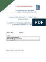 Practica 5 fotocatalisis
