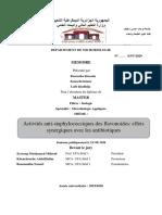 Activités anti-staphylococciques des flavonoides
