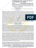PERCEPTION OF HEADMASTERS, FORM MASTERS, AND HEADS OF DEPARTMENTS OF THE EFFECTS OF STRESS ON THEIR WORK IN THE DORMAA DISTRICTS