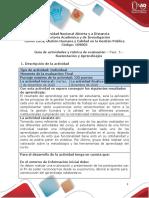 Guia de actividades y Rúbrica de evaluación - Fase 5- Sustentación y Aprendizajes