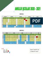 calendar an  scolar 2020-2021
