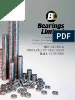 BALL BEARING -Miniature-Catalog