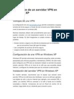 Instalación de un servidor VPN en Windows XP