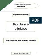 QCM biochimie blida