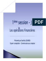 OPERATIONS FINANCIERES