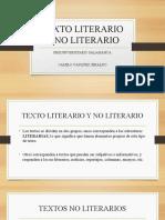 TEXTO LITERARIO Y NO LITERARIO