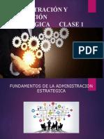 Fundamentos de Administración Estratégica I