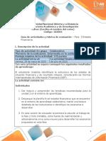 Guia de actividades y Rúbrica de evaluación - Unidad 2 -  Fase 3 - Estados financieros