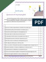 O Principezinho - questionário V-F de leitura global (blog9 10-11)