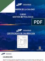 MEMORIAS - CLASE N° 8 CERTIFICADOS DE CALIBRACIÓN