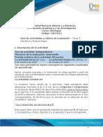 Guía de actividades y Rúbrica de evaluación Tarea 3