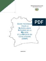 Guide technique pour la Surveillance Integree de la Maladie et la Riposte en CA te da Ivoire SIMR 2012