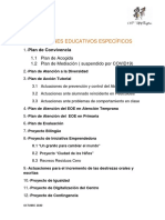 Planes y Proyectos (Curso 2020 - 2021)
