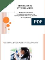propuesta de investigacion