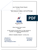 """BSNL"" budgeting system"