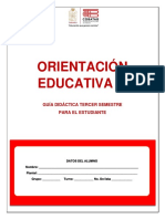 Tercer Semestre.- Guía Didáctica del Estudiante.- Orientación Educativa III