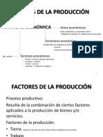 2.  Factores de la producción
