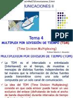 Tema 4 Comunicaciones II Multiplexacion TDM septiembre de  de 2020.pdf