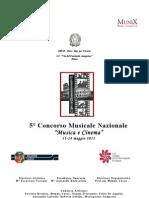 5°Concorso Musicale Nazionale Musica e Cinema