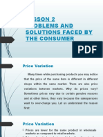 PROBLEMS AND SOLUTIONS FACED BY THE CONSUMER
