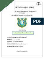 Monografia, LA JUSTICIA PRIVADA COMO ALTERNATIVA