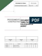 PRO-CON-003- Habilitacion y  colocación de Acero V1
