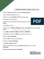 CALIBRAÇÃO INDICADOR CELMI CSP