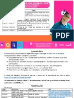 Agenda Foro Educativo Local Usaquén 2020 LINK