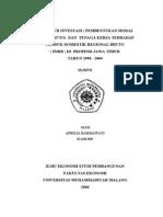 PENGARUH INVESTASI & TNG KERJA THDP PDRB JATIM TH.1990-2004