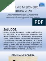 Informe Misionero de Aruba 2020