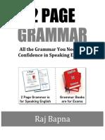 2Page Grammar Speaking English