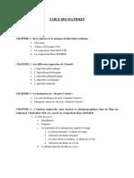 3. Table de matière