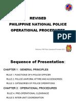 Police Operationoal Procedure 2013