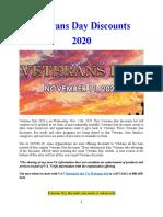 Veterans Day 2020 Discounts