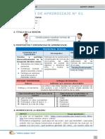 6.- Sesiones - Proyecto de Aprendizaje I - Editora Quipus Perú