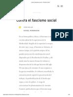 Contra el fascismo social — Revista Común