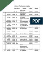 List of Members of Bar Association Jalandhar