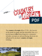 How do marketers influence country-of-origin effects