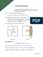 Footing Design (WSD Method)