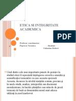 Etica si integritate academica