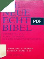 (Neue Echter Bibel_ Kommentar zum Alten Testament 29) Frank-Lothar Hossfeld, Erich Zenger - Die Psalmen I. Psalm 1-50-Echter Verlag (1993).pdf