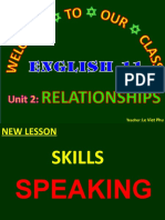 Unit 2 Relationships  Lesson 4 Speaking - Copy.ppt