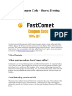 Fastcomet Coupon Code - 70% Exclusive Offer