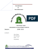 Internship Report on Alfalah Bank